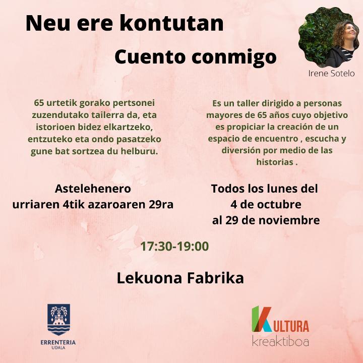 Buy tickets for Neu ere kontutan at Lekuona Fabrika in Errenteria