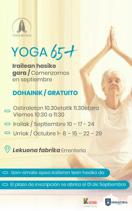 Buy tickets for Yoga 65+ at Lekuona Fabrika in Errenteria